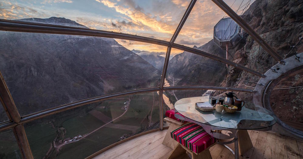 HANGING OUT: Peru's suspended lodge will have you sleeping in the stars